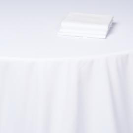 Nappe blanche coton Ø 315 cm