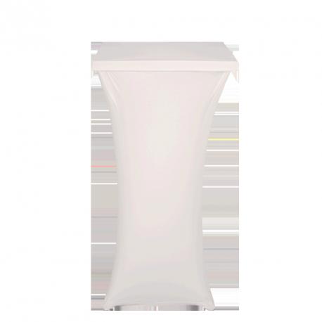 Housse carrée blanche pour mange-debout Acier