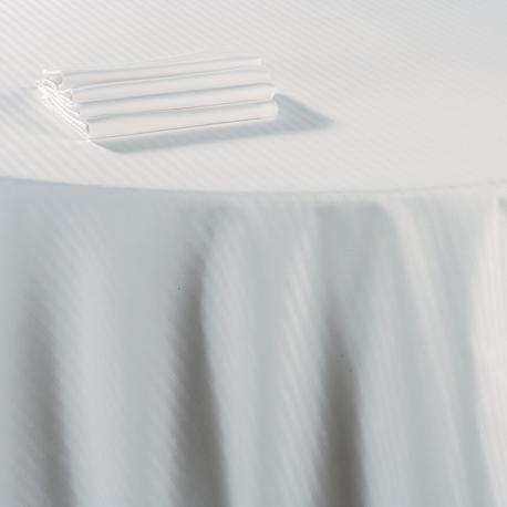 Nappe damassée blanche coton 210 x 210 cm