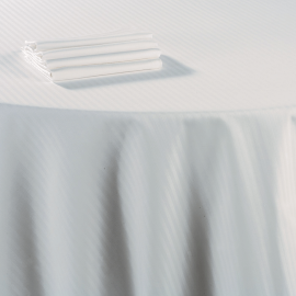 Nappe damassée blanche coton 240 x 240 cm