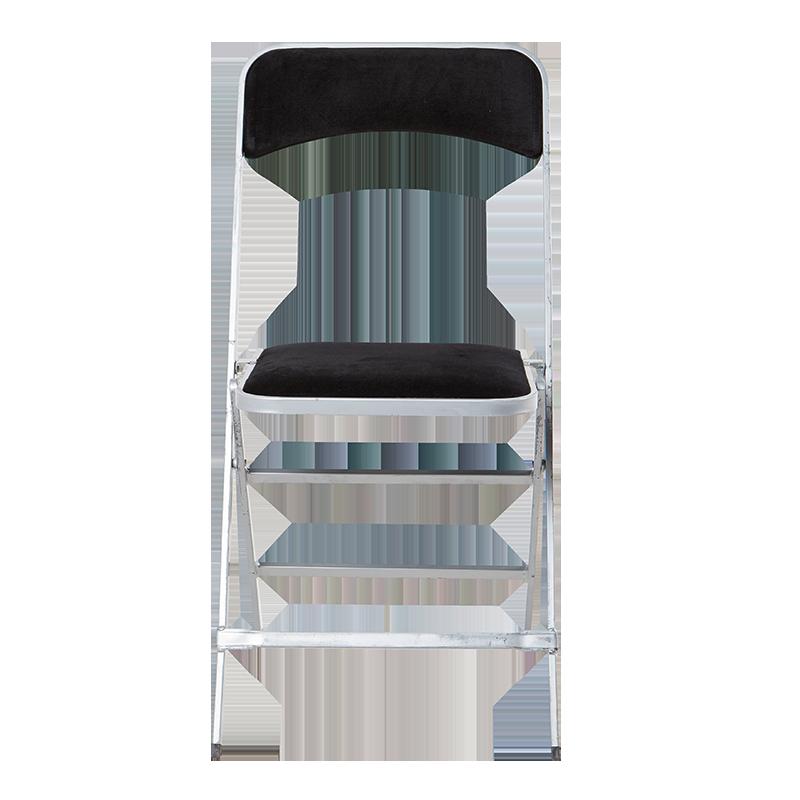location chaise apolline velours noire pliante abc location toulouse. Black Bedroom Furniture Sets. Home Design Ideas