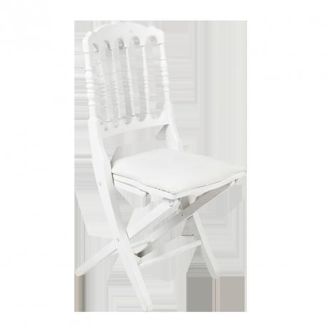 Chaise Napoléon blanche pliante